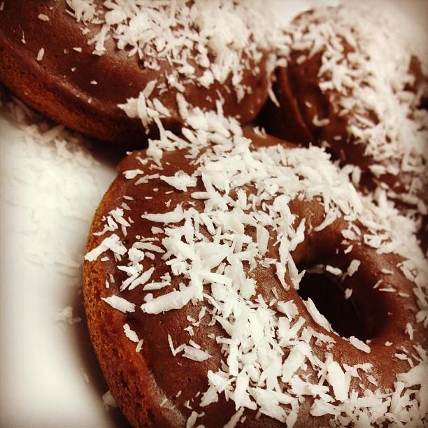 Gluten Free Chocolate Protein Glazed Donuts